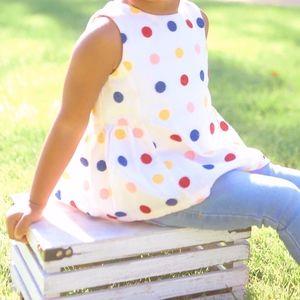 Adorable Polka Dot Peplum